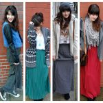 ways to wear a maxi skirt in winter