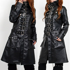 custom leather trench coat