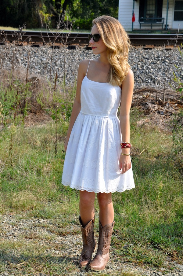 Sundress with Cowboy Boots