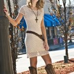 dresses that look good with cowboy boots