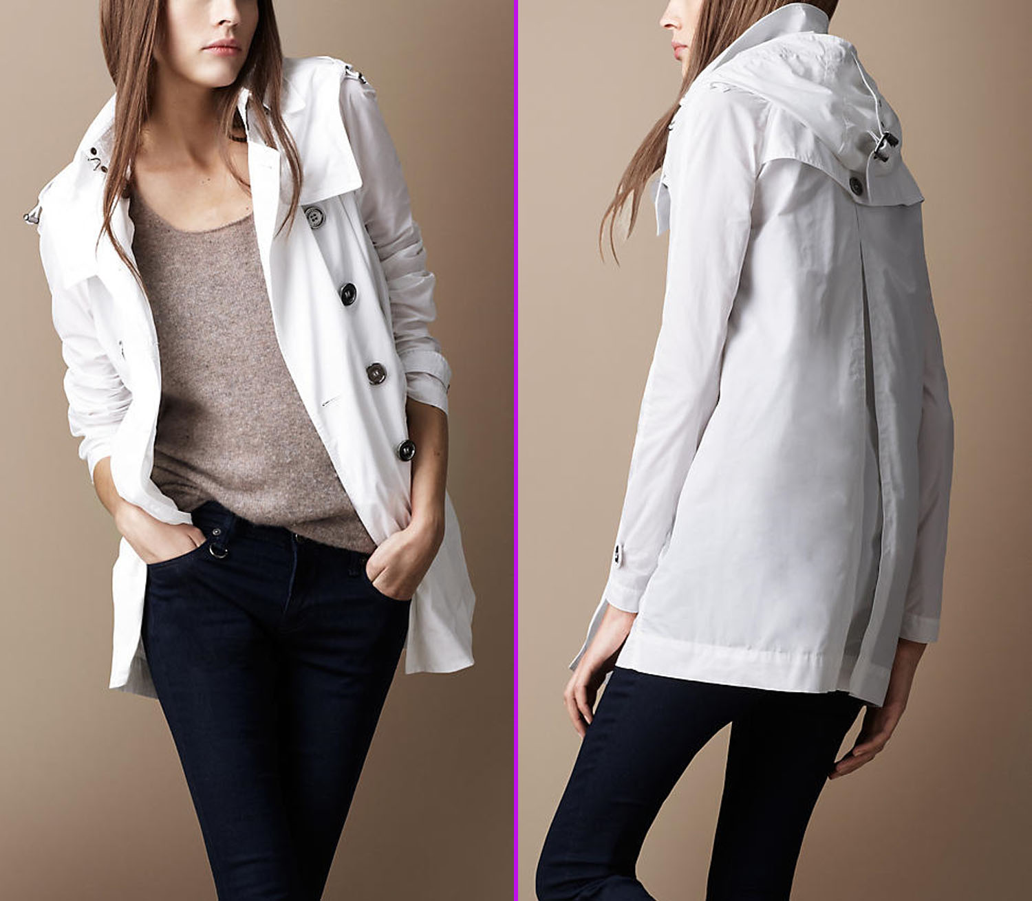 White Coats For Women Womens Winter Trench Coat