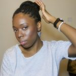 senegalese twist high bun