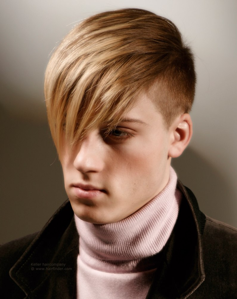One sided haircut for men