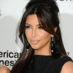 Kim 2015 half up half down hairstyle
