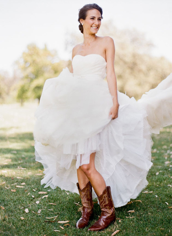 Bridal gowns wedding dresses for Wedding dresses with cowboy boots