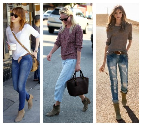 brown ankle boots outfit ideas