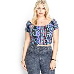 plus size crop top and pants set