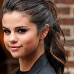 selena gomez messy pulled back hairstyles