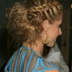 pulled back hairstyles with bangs