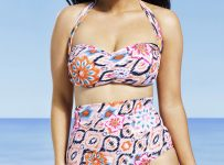 Plus size high tide mix tankini top bathing suits
