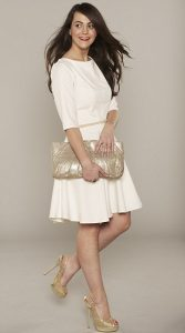 What Colour Clutch to Wear with White Dress Navy Blue