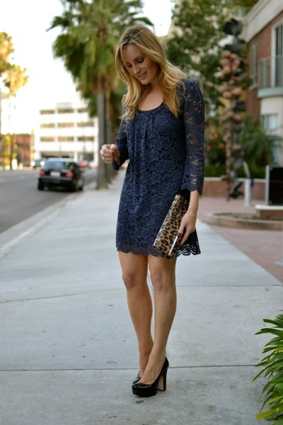 clutch bags to go with navy dress - styloss.com