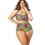 Skyline tankini plus size bathing with top underwire