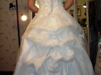 how to do a french bustle on a wedding gown