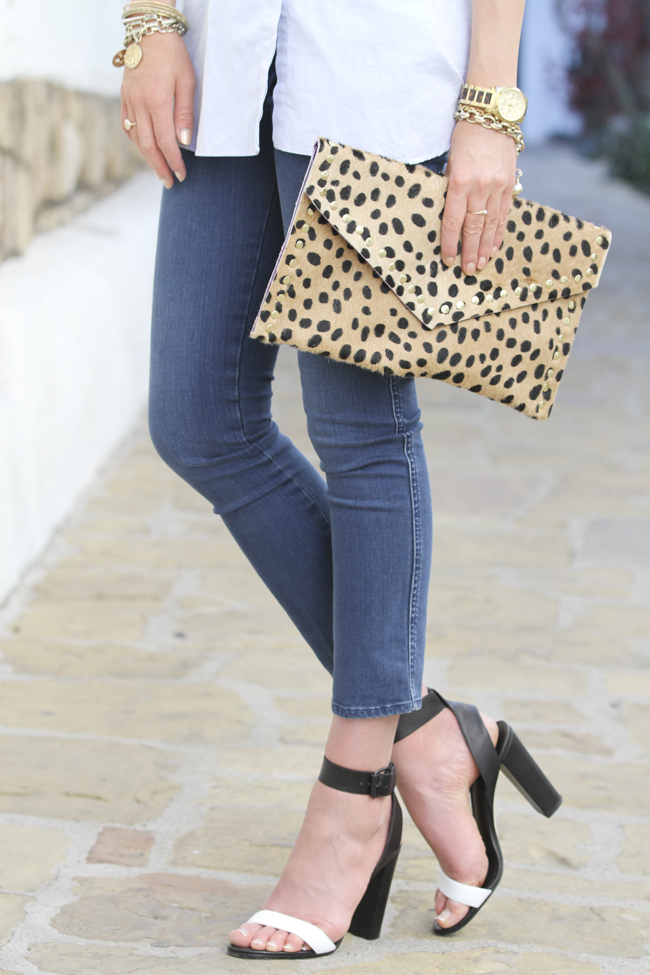 strappy heels with jeans