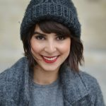 how to wear a knit hat with short hair