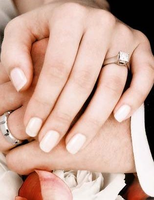 best nail polish color to show off engagement ring