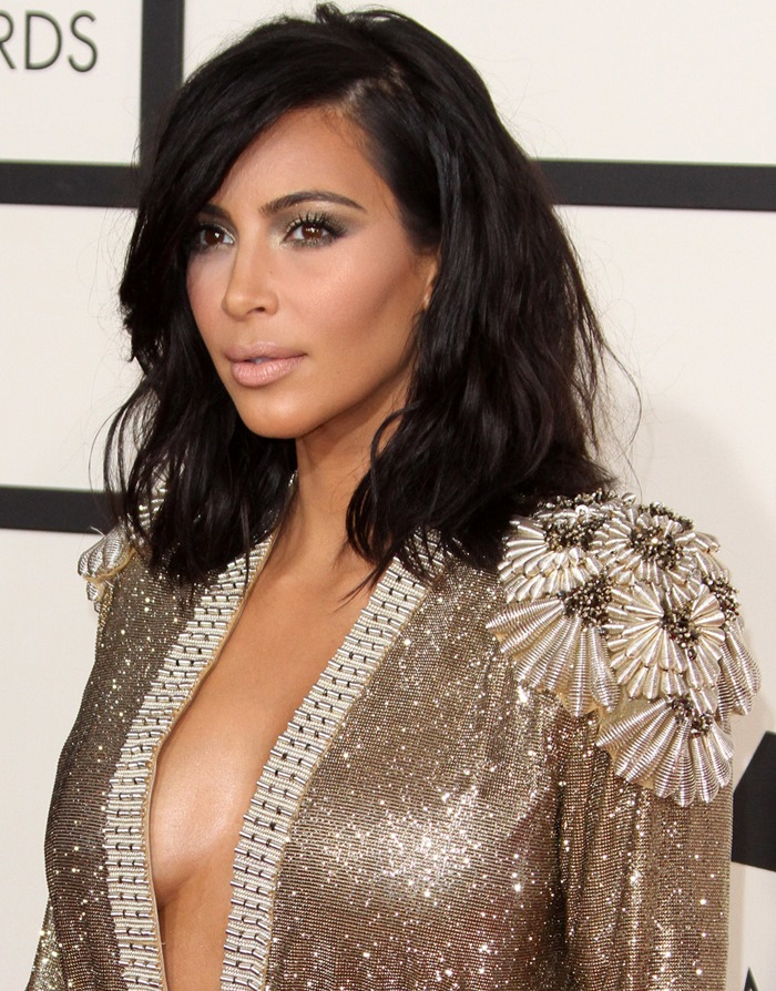 Kim Kardashian Grammy Dress 2015 From Jean Paul Gaultier Couture Spring 2015