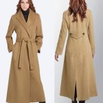 women's cashmere coat hooded wadded jacket plus size