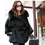 women's cashmere coat with fur collar 2015