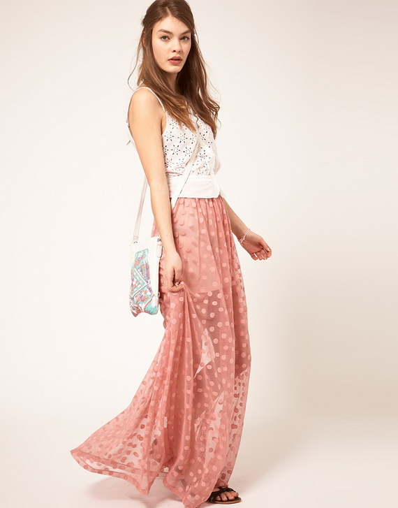 maxi skirts to wear in spring