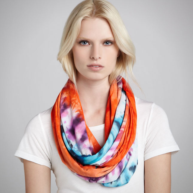 wearing a hermes scarf