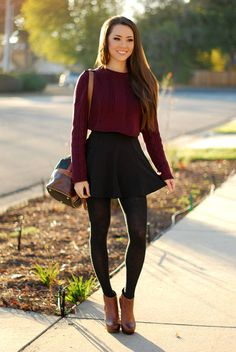 fall outfits with skirts