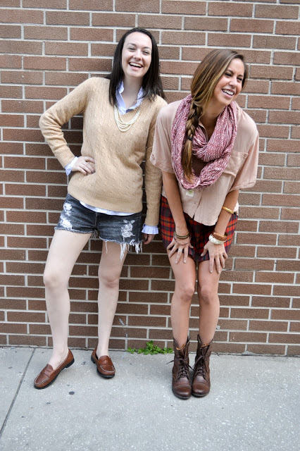 fall outfits with shorts