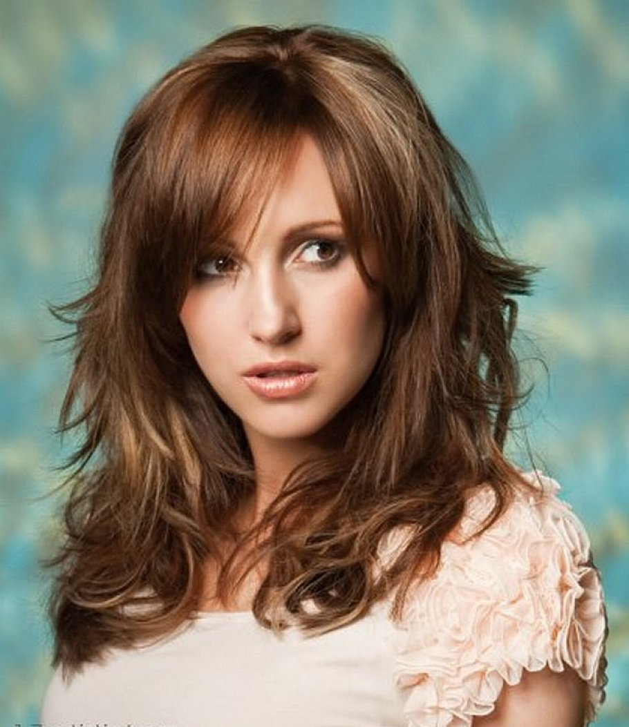 New Hairstyles For Long Thick Hair : Medium length hairstyles for thick wavy hair with bangs