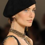 Black Beret Hat with dress