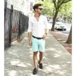 mint green shorts boys