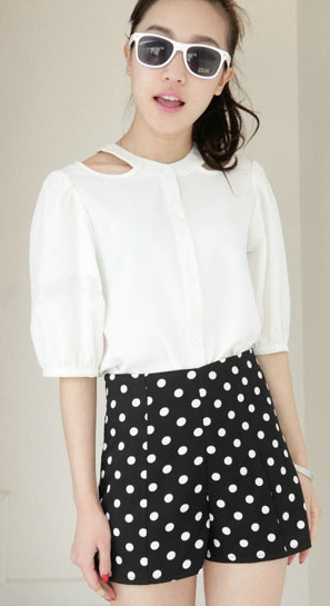 top with Polka Dot Shorts
