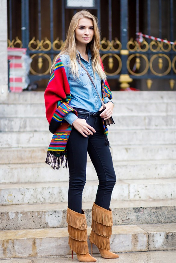 Fringe Boots with Jeans And Pants