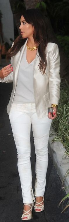 pair of White Skinny Jeans