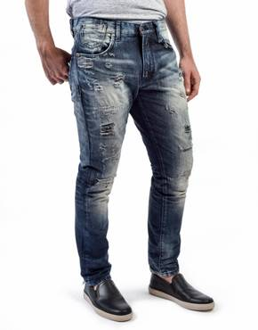 Repaired Slim Fit Jeans