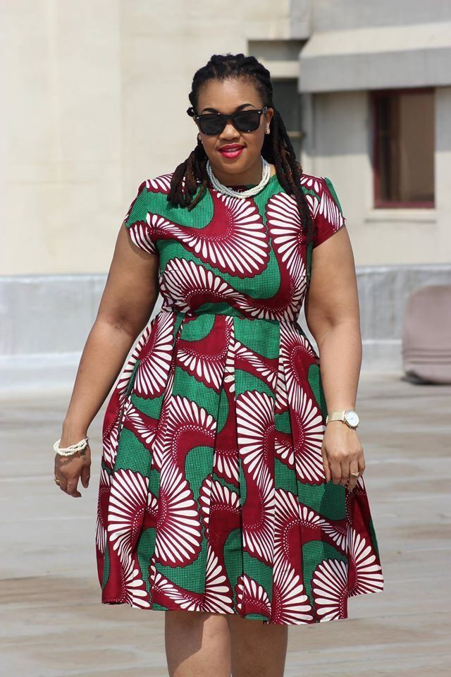 African Print Dresses for Plus Size Ladies: