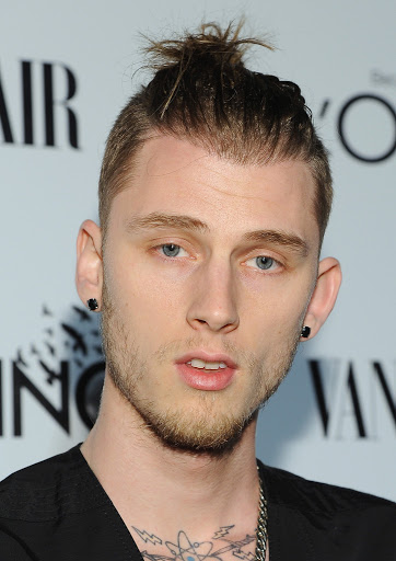 MGK Top Knot Hairstyle