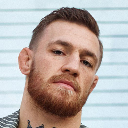 Conor Mcgregor Short undercut comb over Hairstyle: