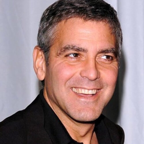 George Clooney Short and Cool Hairstyle: