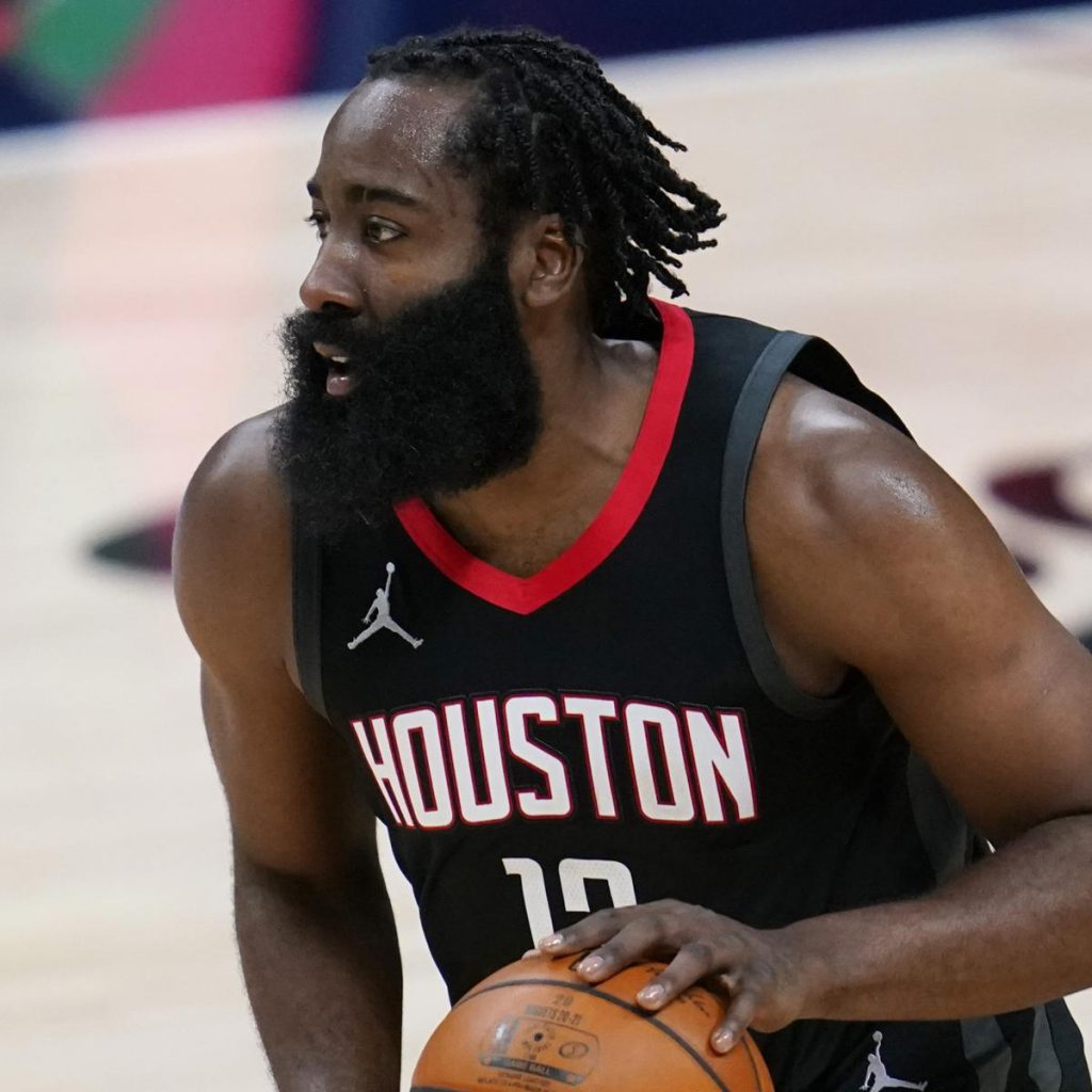 new haircut of James Harden with braids
