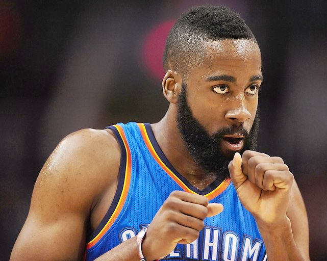 Small Haircut of James Harden with clean sides