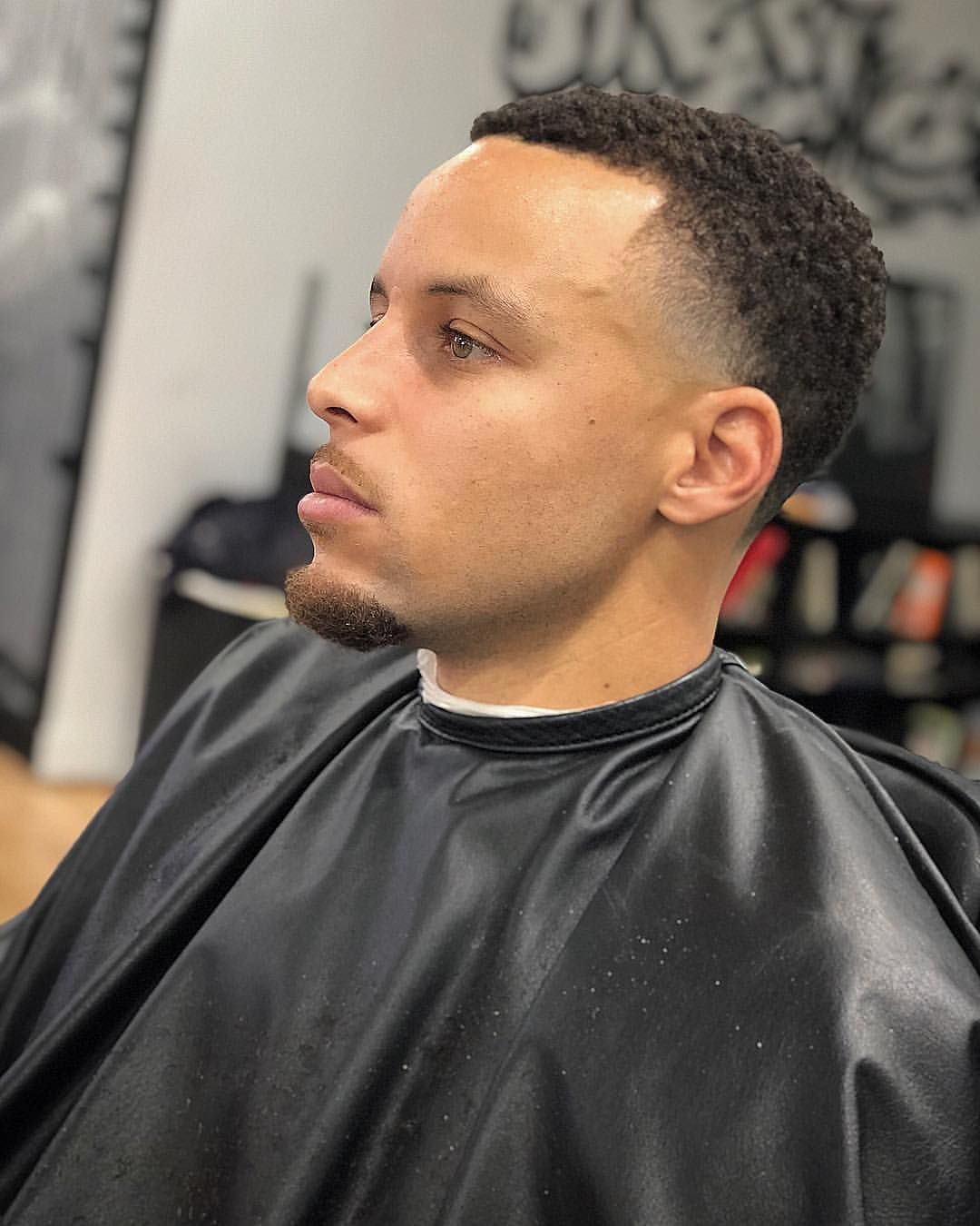 Stephen Curry Temple Fade Taper Haircut: