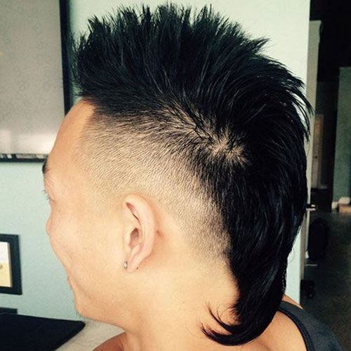 Faux Hawk Rat Tail Haircut