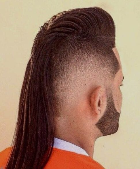 Mullet Rat Tail Fade Haircut